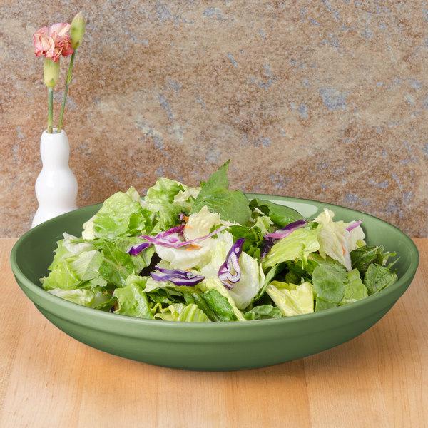 CAC SAL-2GRN Festiware 48 oz. Green Salad / Pasta Bowl - 12/Case Main Image 6