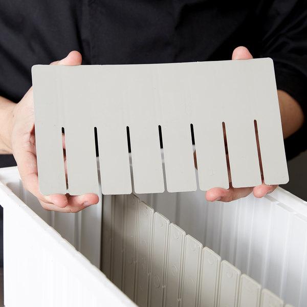 """Short Metro MDS92060N Gray Tote Box Divider - 11"""" x 6"""""""
