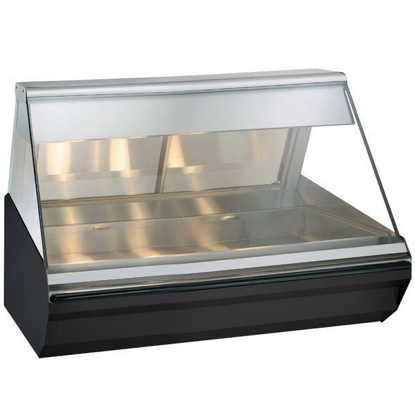 "Alto-Shaam EC2-48/P S/S Stainless Steel Heated Display Case with Angled Glass - Self Service 48"" Main Image 1"