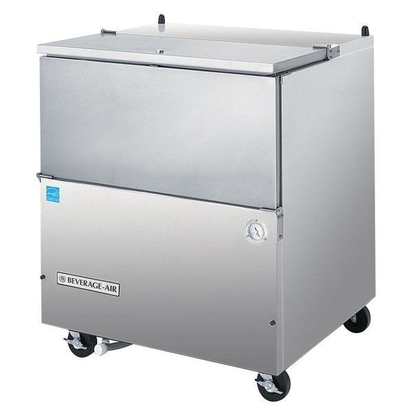 """Beverage-Air SM34N-S 34 1/2"""" Stainless Steel 1-Sided Cold Wall Milk Cooler"""