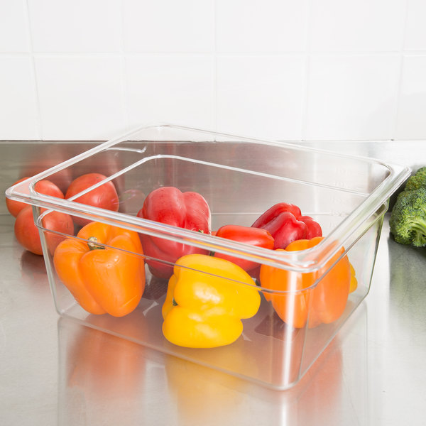 """1/2 Size Clear Polycarbonate Food Pan - 6"""" Deep"""
