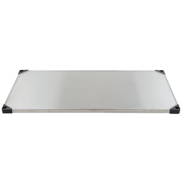 "Metro 2448FS 24"" x 48"" Flat Stainless Steel Solid Shelf"