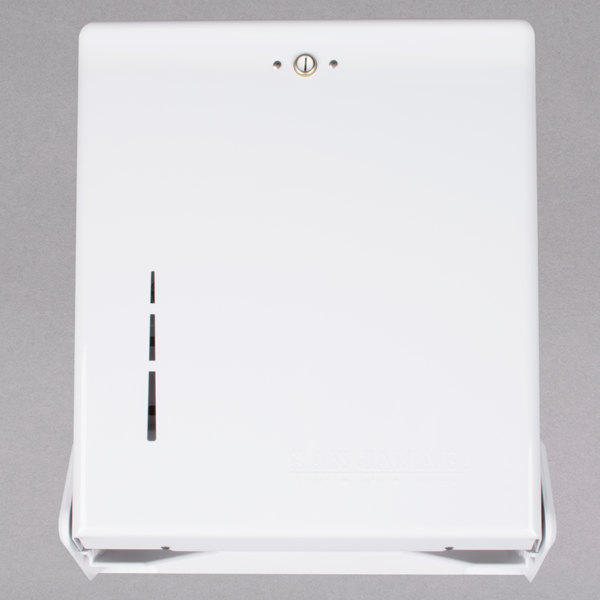 San Jamar T1905WH True Fold White C-Fold / Multi-Fold Towel Dispenser