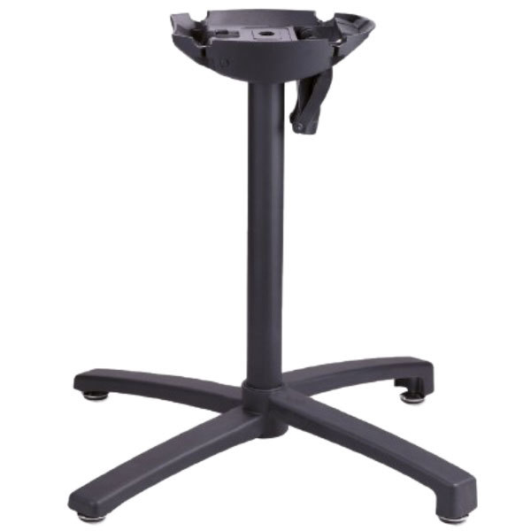 Grosfillex USX1W017 X1 200 Black Tilt Top Aluminum Outdoor Table Base Main Image 1