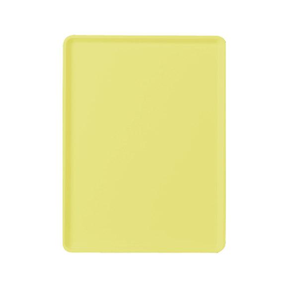"""Cambro 1220D536 12"""" x 20"""" Lemon Chiffon Dietary Tray - 12/Case"""