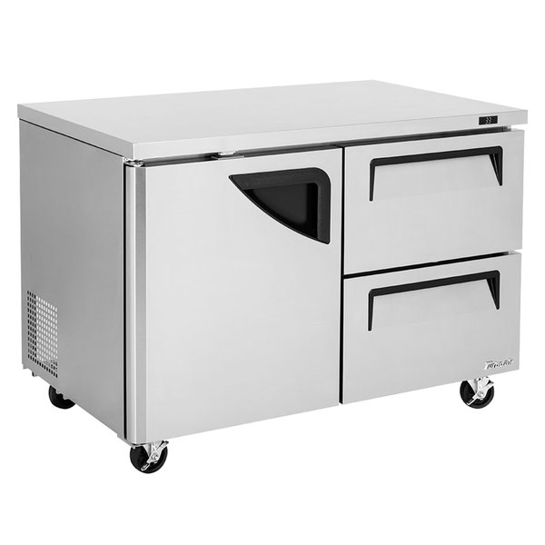 """Turbo Air TUR-48SD-D2-N Super Deluxe 48"""" Undercounter Refrigerator with Two Drawers Main Image 1"""