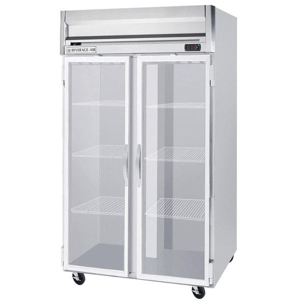 "Beverage-Air HF2-1G-LED Horizon Series 52"" Glass Door Reach-In Freezer with LED Lighting Main Image 1"