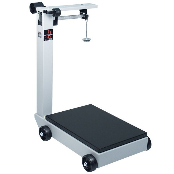 Cardinal Detecto 854F50P 500 lb. Portable Mechanical Floor Scale, Legal for Trade Main Image 1