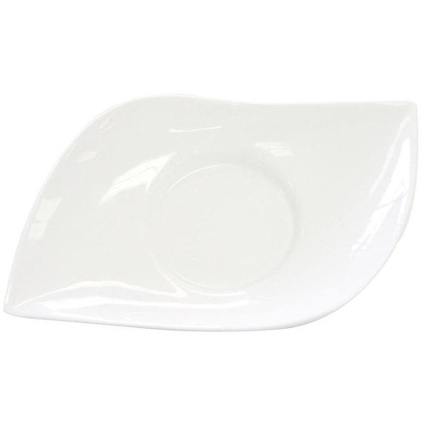 "CAC COL-10 Fashion 10"" Bright White Porcelain Eye Bowl - 24/Case Main Image 1"