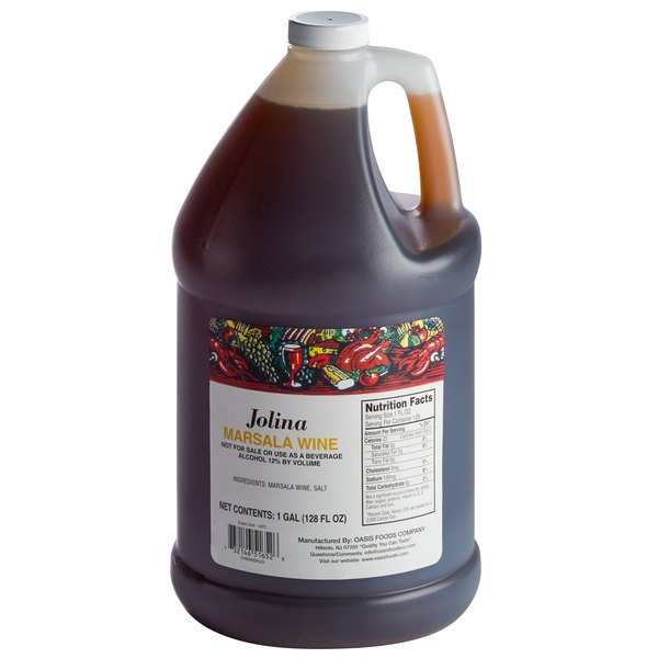 AAK Jolina 1 Gallon Marsala Cooking Wine - 4/Case