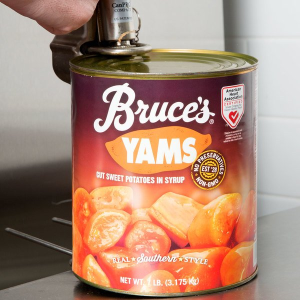 Bruce's Cut Sweet Potatoes in Light Syrup #10 Can - 6/Case