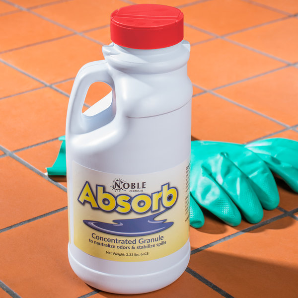 Noble Chemical 2 lb. / 32 oz. Absorb Odor Neutralizer lb. / Spill Stabilizer - 6/Case