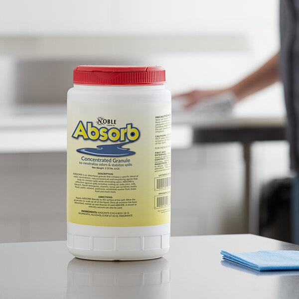 Noble Chemical 2 lb. / 32 oz. Absorb Odor Neutralizer lb. / Spill Stabilizer - 6/Case Main Image 3