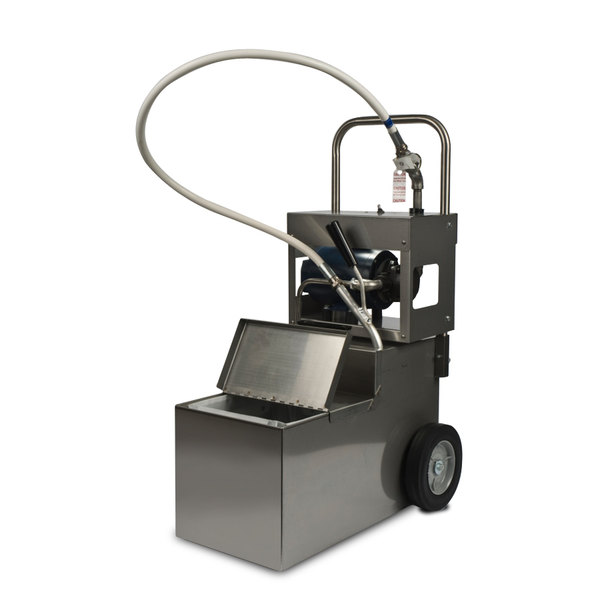 MirOil MOD 0800 85 lb  Fryer Oil Electric Filter Machine and Discard  Trolley - Drain Valve 120V