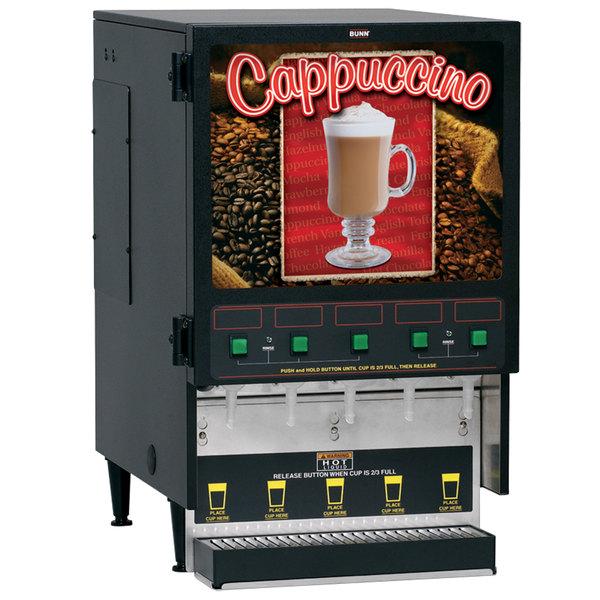 Bunn 34900.0000 FMD-5 Cappuccino / Espresso Machine Hot Beverage Dispenser with 5 Hoppers - 120V