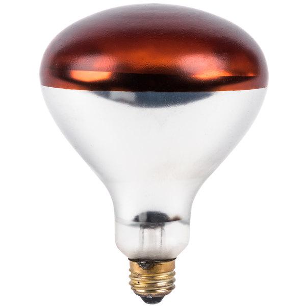 Lavex Janitorial 250 Watt Red Coated Infrared Heat Lamp Light Bulb Main Image 1