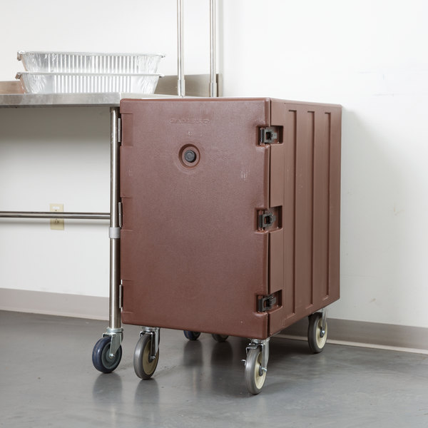 """Cambro 1826LTC131 Camcart Dark Brown Mobile Cart for 18"""" x 26"""" Sheet Pans and Trays Main Image 4"""
