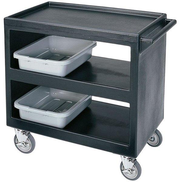 "Cambro BC2354S Black Three Shelf Service Cart - 37 1/4"" x 21 1/2"" x 34 5/4"" Main Image 1"