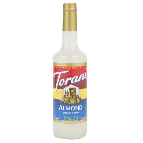 Torani 750 mL Almond (Orgeat) Flavoring Syrup Main Image 1