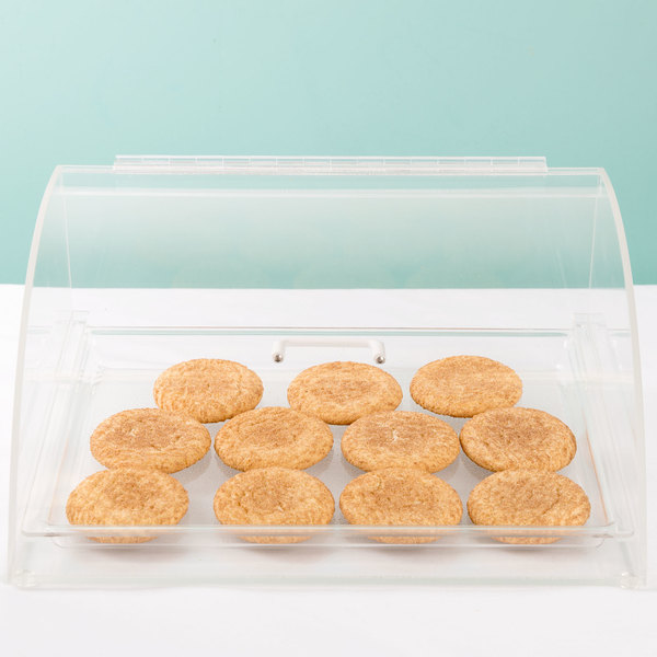 """Cal-Mil 1019 Euro Style Curved Front Bakery Display Case - 15 1/2"""" x 12"""" x 7"""""""