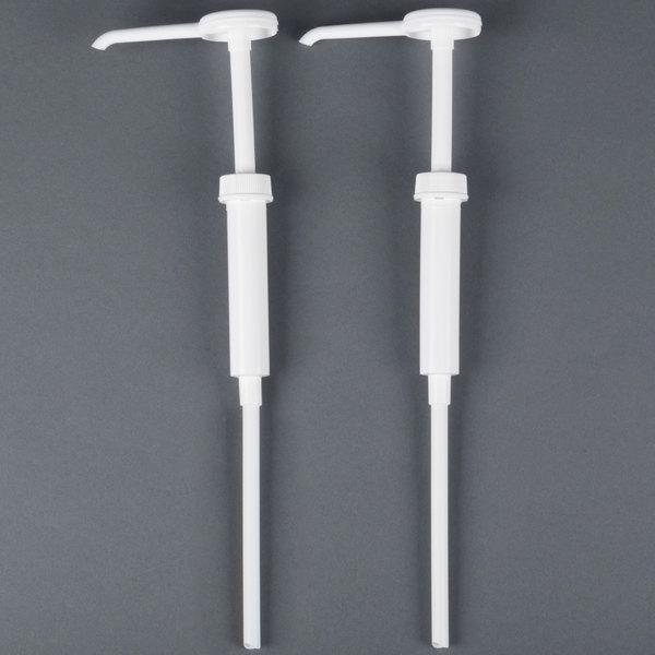 San Jamar P7300 1 oz. White Replacement Condiment Dispenser Pump - 2/Pack