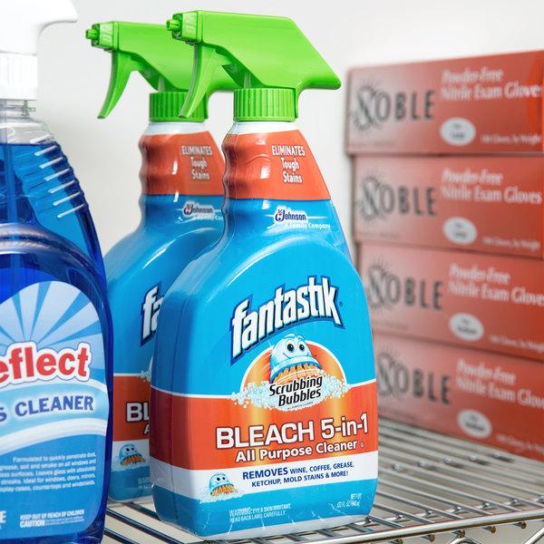 SC Johnson Fantastik 32 oz. Scrubbing Bubbles All Purpose Spray Cleaner with Bleach - 8/Case
