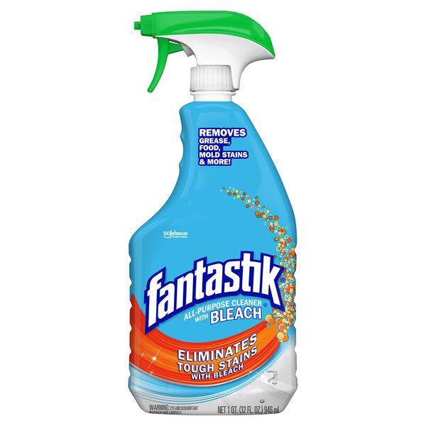 SC Johnson Fantastik® 308685 32 oz. All Purpose Spray Cleaner with Bleach - 8/Case Main Image 1