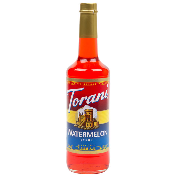 Torani 750 mL Watermelon Flavoring / Fruit Syrup