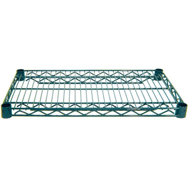 """Advance Tabco EG-1436 14"""" x 36"""" NSF Green Epoxy Coated Wire Shelf"""