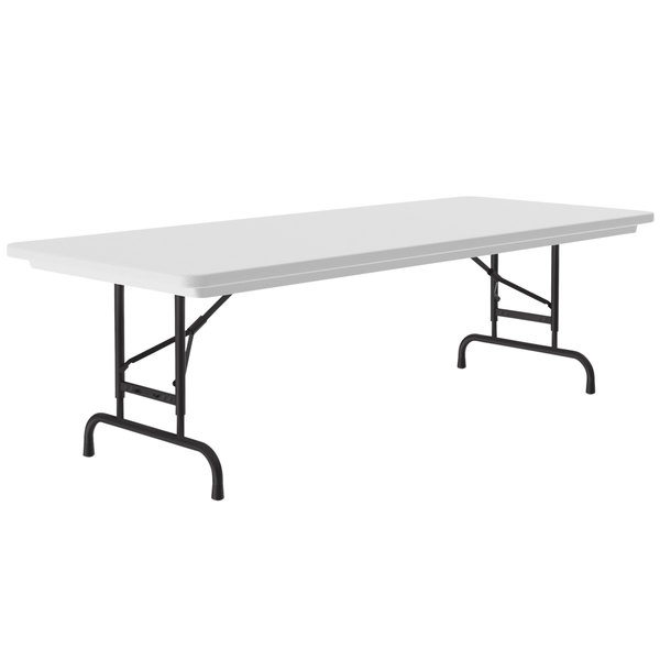 "Correll Adjustable Height Folding Table, 30"" x 96"" Plastic, Granite Gray - R-Series RA3096 Main Image 1"