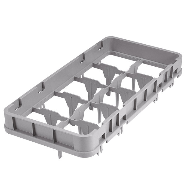 Cambro 10HE1151 Gray 10 Compartment Half Size Full Drop Camrack Extender