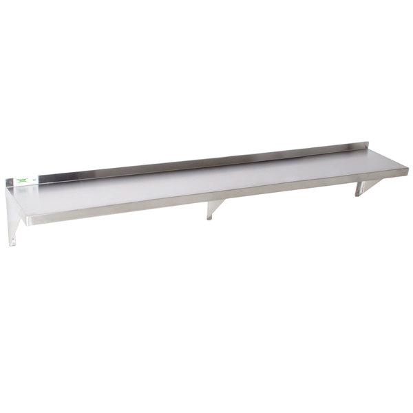 """Regency 16 Gauge Stainless Steel 12"""" x 72"""" Heavy Duty Solid Wall Shelf"""