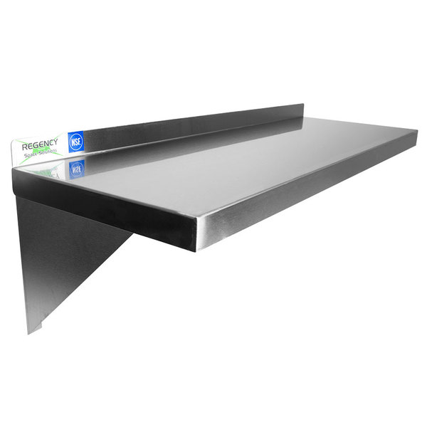 Add Vertical Storage E To Your Cramped Kitchen With This Regency 16 Gauge Stainless Steel Heavy Duty Wall Shelf