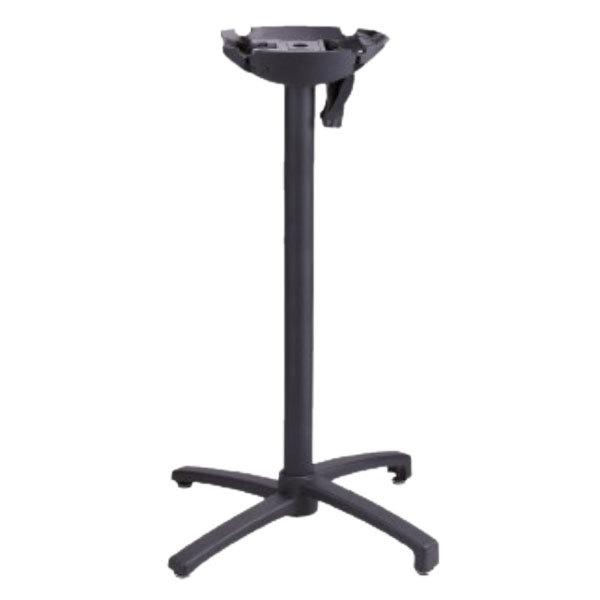 Grosfillex USX1H017 X1 Bar Height Black Tilt Top Aluminum Outdoor Table Base