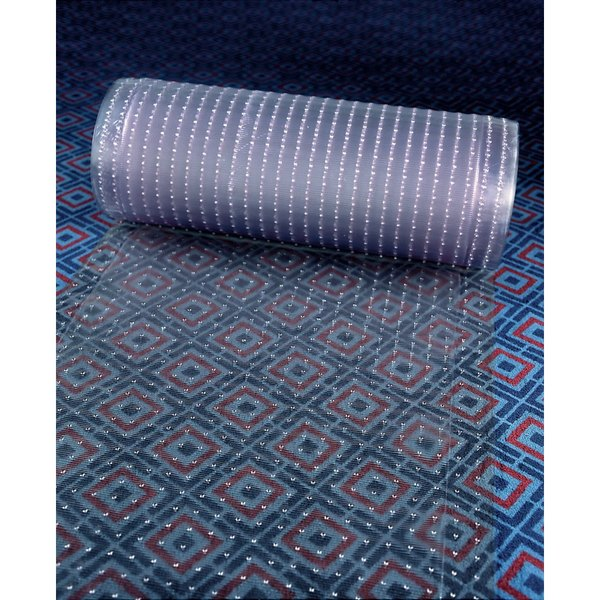 "Cactus Mat 3548R-4 Anchor-Runner 4' Wide Clear Vinyl Heavy-Duty Carpet Protection Runner Mat - 5/16"" Thick Main Image 1"