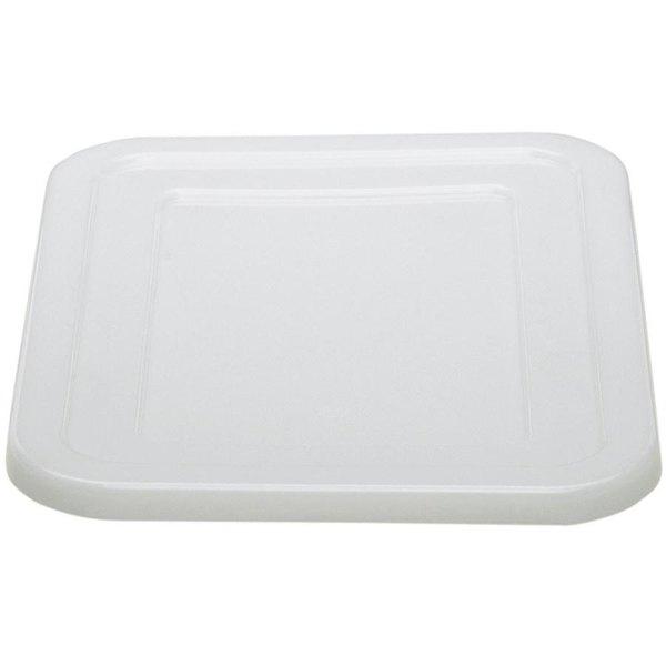 """Cambro 1520CBCP148 Cambox 20"""" x 15"""" White Plastic Bus Tub / Food Storage Box Cover"""