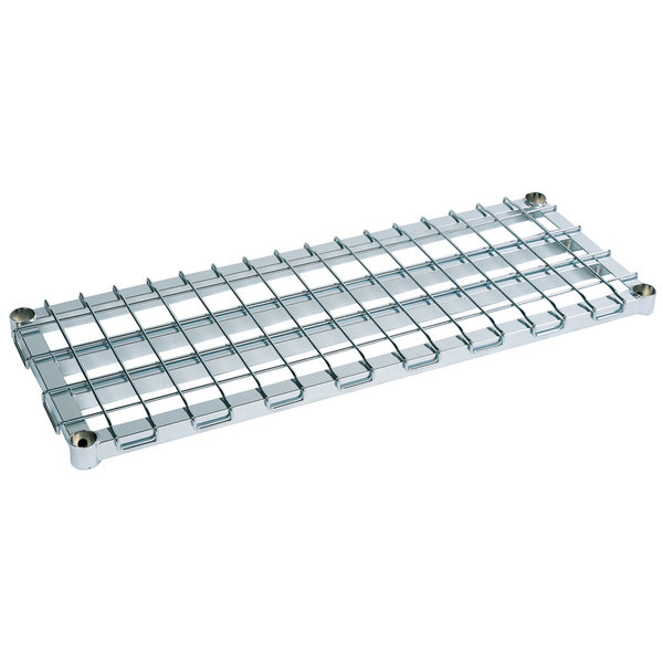 """Metro 1836DRS 36"""" x 18"""" Stainless Steel Heavy Duty Dunnage Shelf with Wire Mat - 1600 lb. Capacity"""