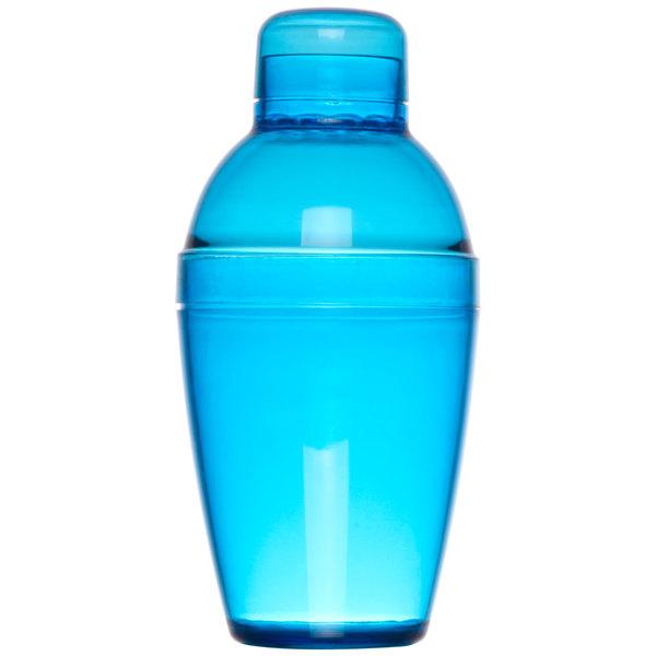 Fineline 4102-BL Quenchers 10 oz. Blue Plastic Shaker - 24/Case