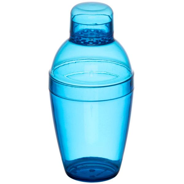 Fineline 4102-BL Quenchers 10 oz. Blue Plastic Shaker - 24/Case Main Image 1