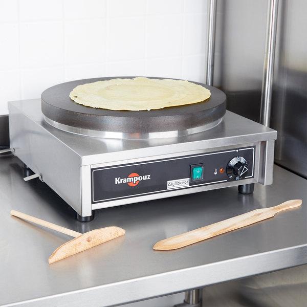 """Krampouz CECIF4 17"""" x 18"""" Electric Cast Iron Crepe Maker - 3750W, 240V"""