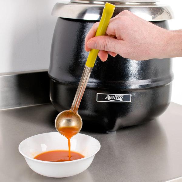 1 oz. Yellow Coated Handle Ladle