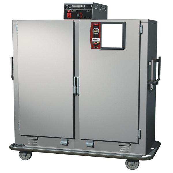 Metro MBQT-150D-QH Insulated Heated Banquet Cabinet Two Door with Quad-Heat System - 150 Plate Capacity 120V