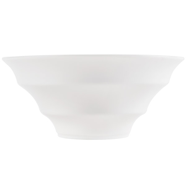 CAC WOB-7 18 oz. Bone White Porcelain Winner Bowl - 24/Case