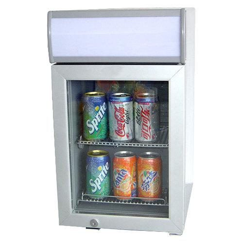 Excellence SC-22 Silver Countertop Display Refrigerator with Swing Door - 0.7 cu. ft.