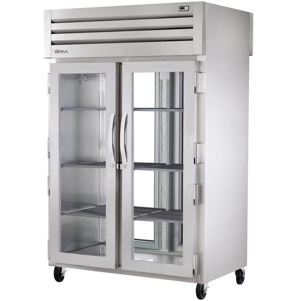 True STG2RPT-2G-2G-HC Specification Series 52 5/8 inch Glass Door Pass-Through Refrigerator