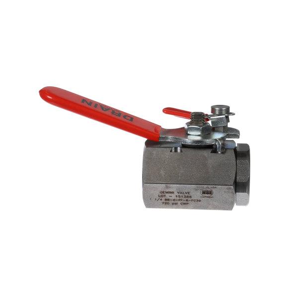 "Frymaster 8064145 Valve, 1-1/4"" W/Lock Pin Main Image 1"