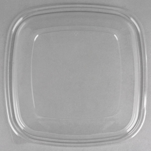 Sabert 54160B50 Bowl2 Clear Dome Lid for 80 oz. and 160 oz. Square Bowls - 50/Case