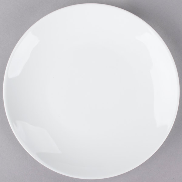 Tuxton VPA-090 Florence 9 inch Bright White Coupe China Plate - 24/Case