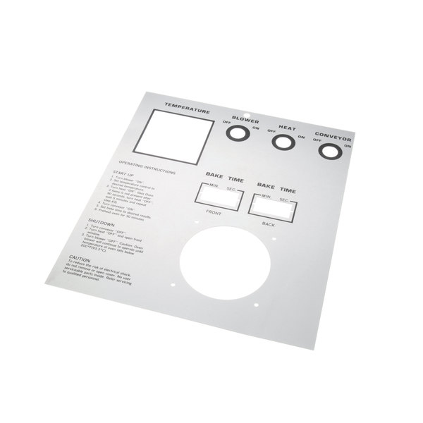 Middleby Marshall 22505-0065 Face Plate