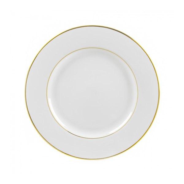 "10 Strawberry Street GLD0004 7 3/4"" Double Line Gold Salad / Dessert Plate - 24/Case"